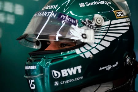 Lance sets his sights forward before the start of the Turkish Grand Prix