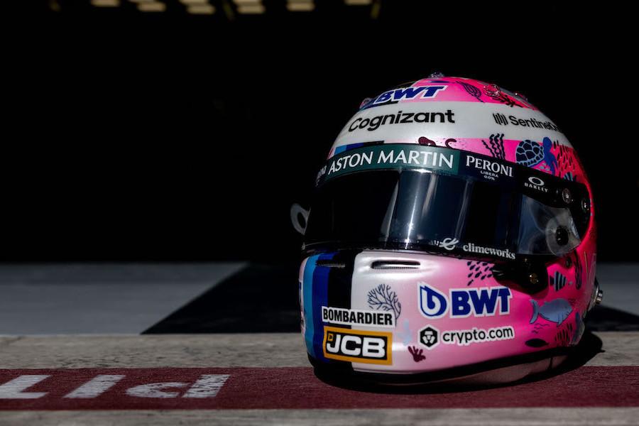 Sebastian's special edition helmet for the 2021 Turkish Grand Prix