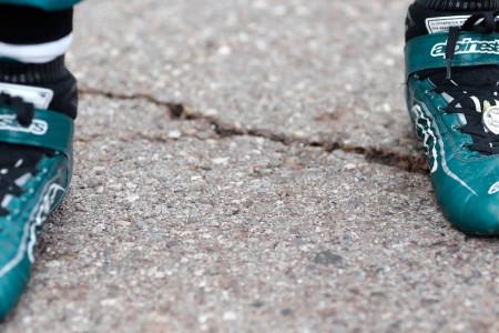 The lucky coin Sebastian had in his boot for the Monaco Grand Prix