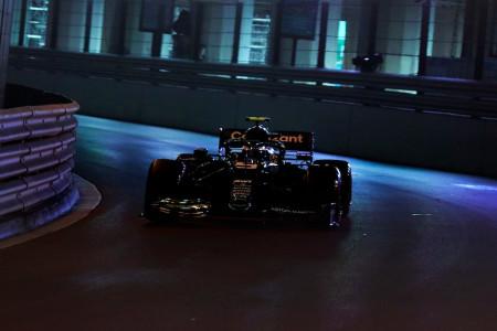 Sebastian prepares to exit the Tunnel in Monaco