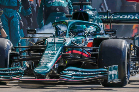Lance switches to a set of Hard tyres for the final stint of the British Grand Prix