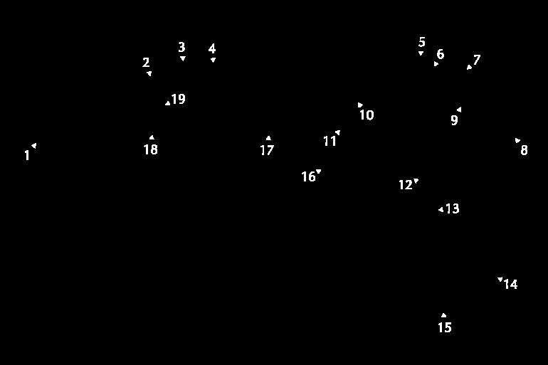 2021 Hungarian GP track map turns