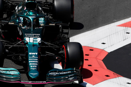 Lance in qualifying for the Azerbaijan Grand Prix