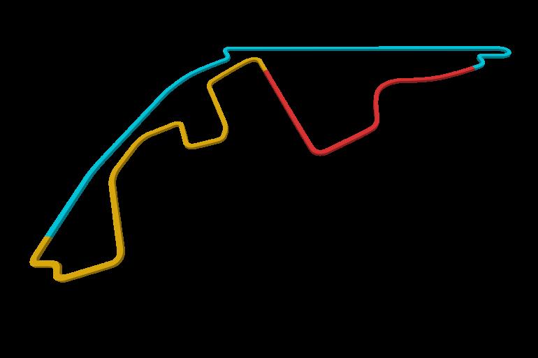 2021 Abu Dhabi GP track map sectors