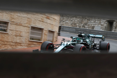 Through the eye of the needle: Lance during practice in Monaco