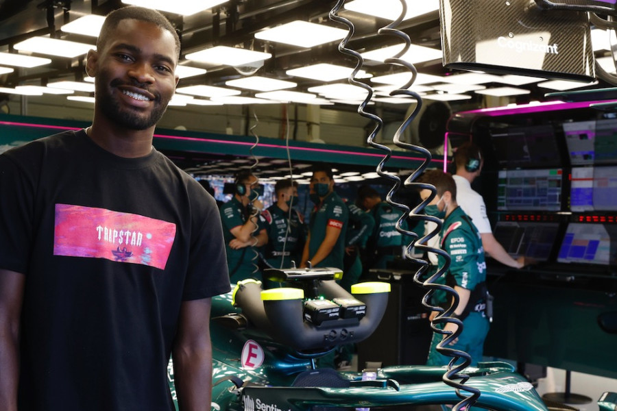 British rapper Dave enjoys his time in the garage