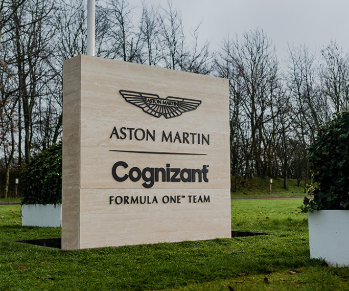 Aston Martin Cognizant Formula One™ Team sign
