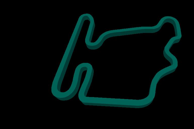 2021 Hungarian GP track map