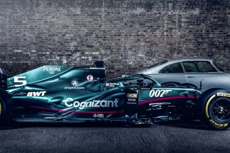 The AMR21 007 livery