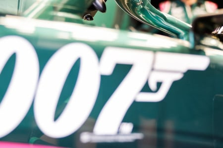 The famous 007 logo was emblazoned on the AMR21 in Monza