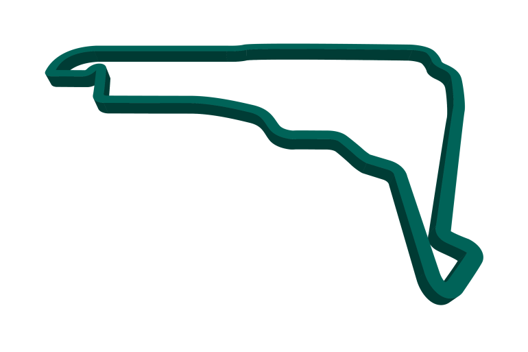 2021 Mexican GP track map