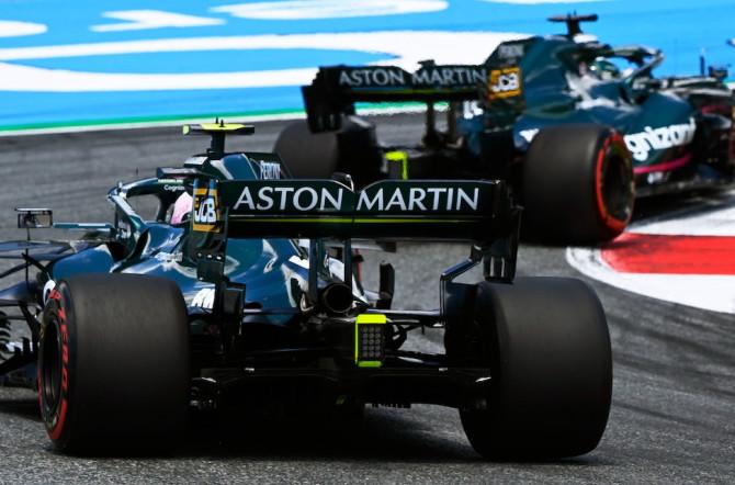 In formation: Sebastian follows Lance on track in Austria