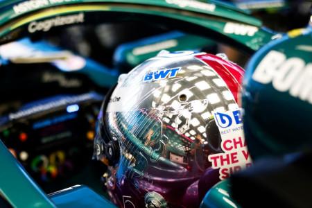 Close-up with Sebastian's Monaco crash helmet design