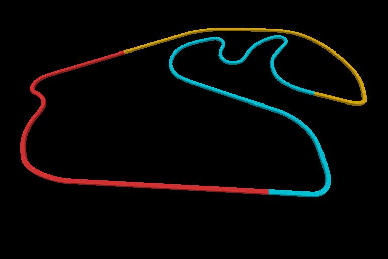 2021 Brazilian GP track map sectors