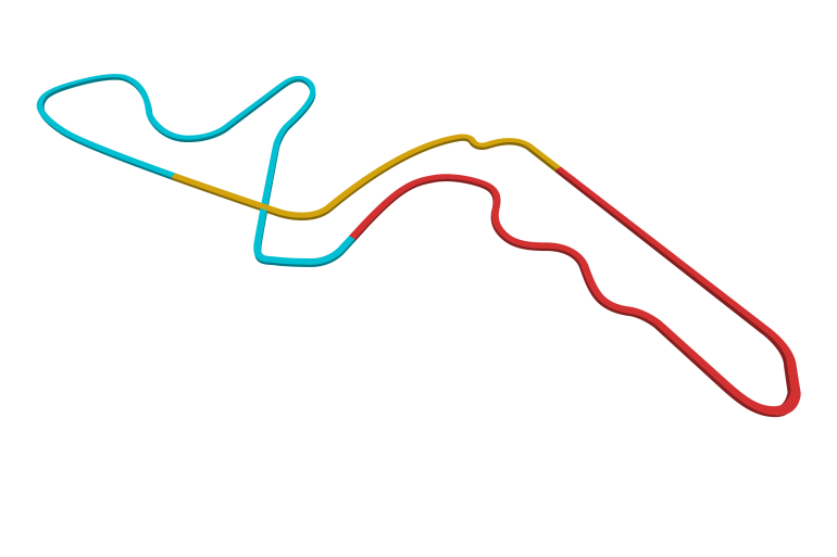 2021 Japanese GP track map sectors