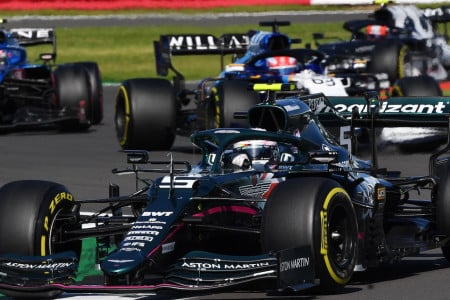Sebastian battled his way up to sixth early in the British Grand Prix
