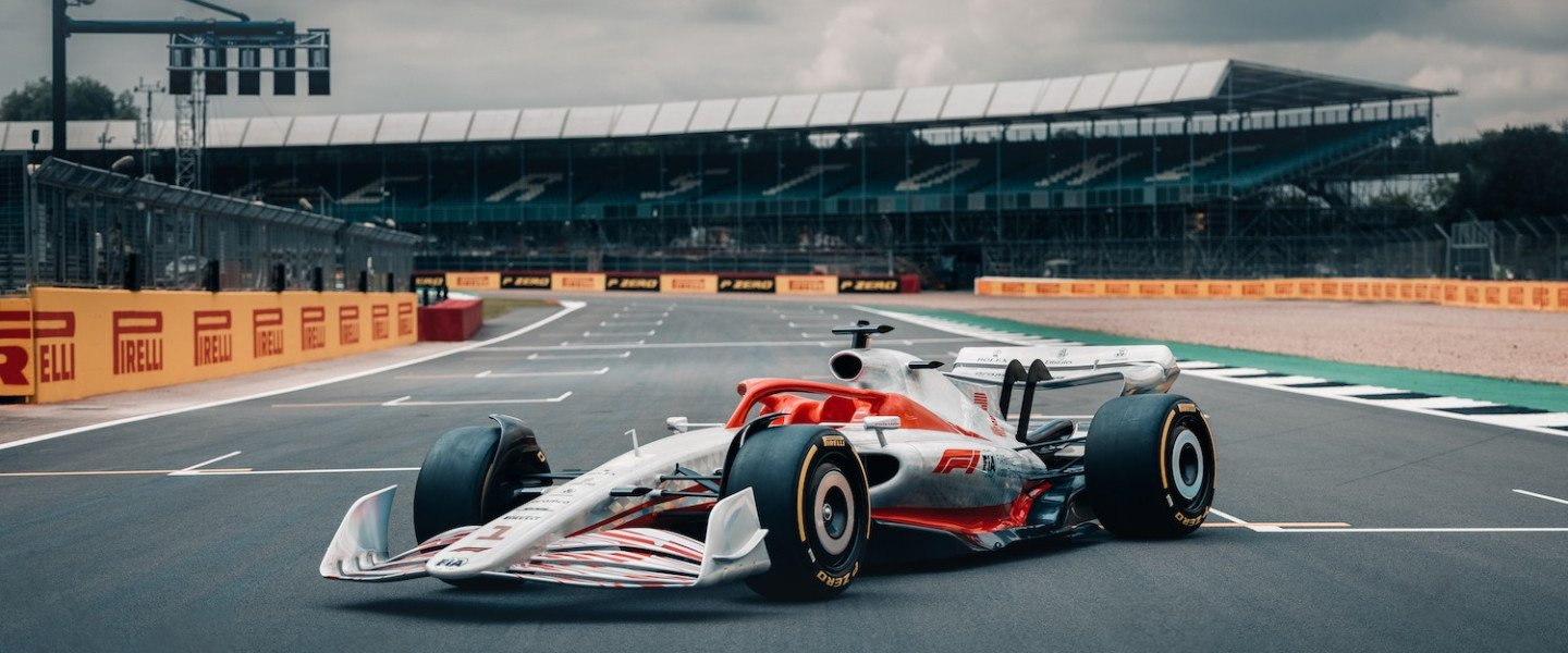 The 2022 Formula One car on the grid at Silverstone