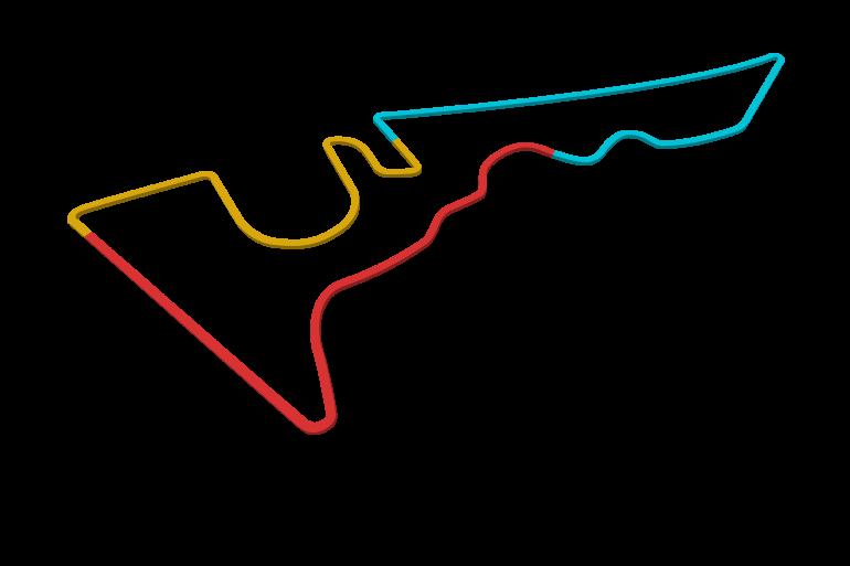 2021 United States GP track map sectors
