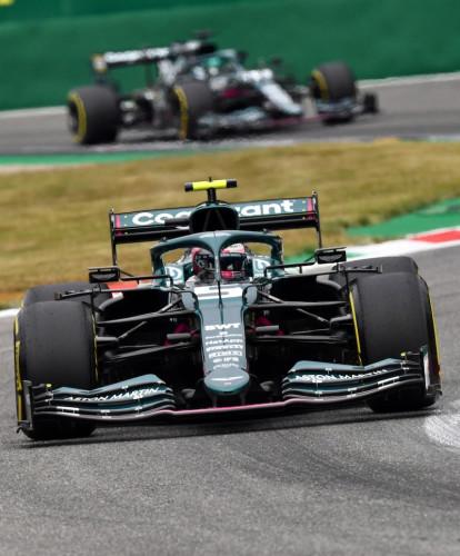 Sebastian Vettel and Lance Stroll, 2021 Italian Grand Prix