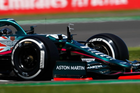 Lance runs in a comfortable eighth late in the British Grand Prix
